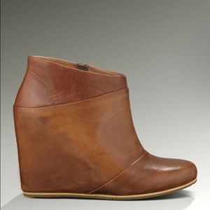 Ugg Australia Carmine Leather Wedge Booties